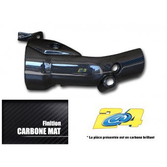 Yamaha YZF R1 2009-2014 Protection Echappement Carbone Mat