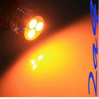 1 Ampoule 3W High Power Led Eclairage Orange  - Type 1156 180°