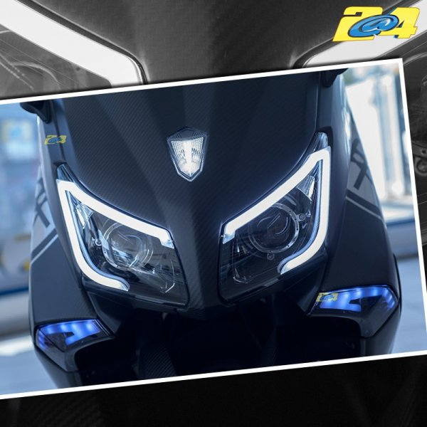 daylight led bleu bloc optique phare yamaha t max 530 2012 2014. Black Bedroom Furniture Sets. Home Design Ideas