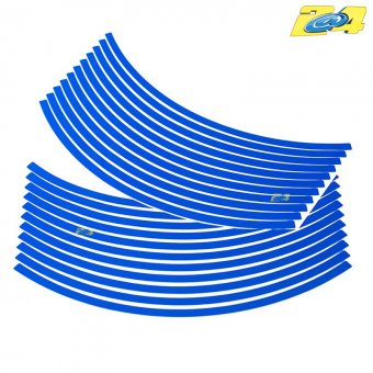Wheel Stripes -Filets de Jantes 8mm Bleu