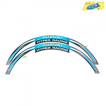 Wheel Stripes -Filets de Jantes Suzuki Hyper Racing Bleu