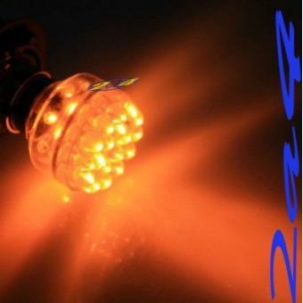 1 Ampoule 32 LED Eclairage Orange EVO9 - Type 1156 180°
