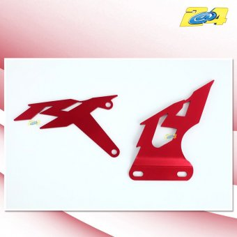 Yamaha YZF R1 2007-2008 Platines Repose Pied Alu Rouge