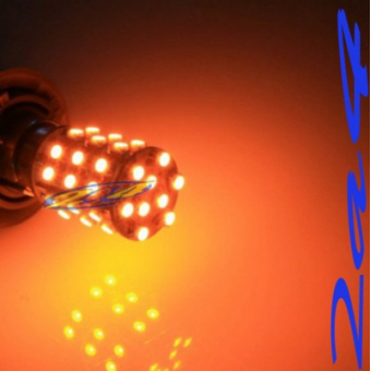 1 Ampoule 39 SMD Eclairage Orange  - Type 1156 180°