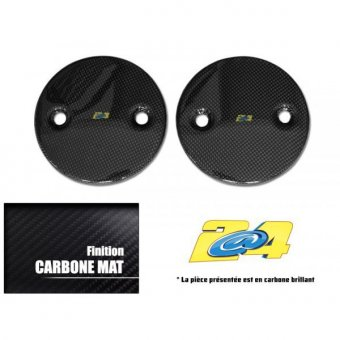 Cache Carter Rond Carbone Mat T-Max 2016 (Paire)