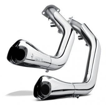 S-HDDYR1-C Ligne Open Chrome Akrapovic Dyna Fxdc Super Glide Custom 2006-2014
