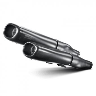 S-HDSPSO1-HB Silencieux Slip-On Noir Akrapovic Sportster Xl 1200 l Low 2006-2011 Homologation EC
