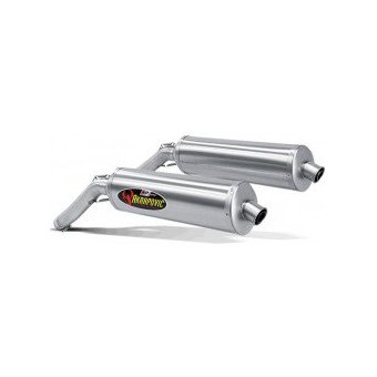 SS-S10SO1-HT Silencieux Slip-On Titane Akrapovic V-Strom 1000 2002-2009 Homologation EC