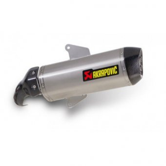 Filtre K&N + S-A8SO2-HWSS Silencieux Slip-On Inox Akrapovic Gp 800 2008-2015 Homologation EC