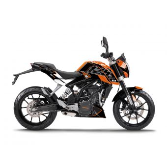 Kit Deco Up Maximize Ktm Duke 125 Noir-Orange
