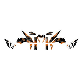 Kit Deco Up Maximize Ktm Duke 690 Noir-Orange