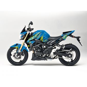 Kit Deco Up Maximize Suzuki Gsr 750 Bleu-Jaune