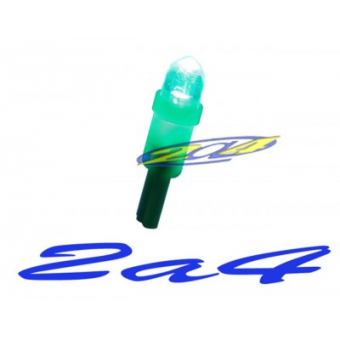 1 Ampoules LED Eclairage Verte  T5W WEDGE