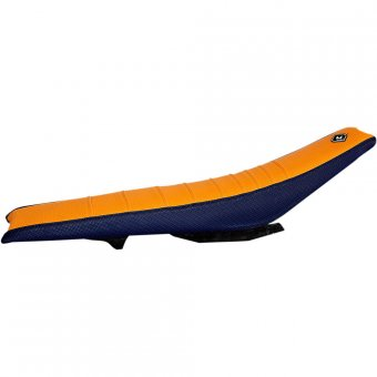 Ktm Sx 250 - Housse De Selle Flu Designs Issue 3 Bleu/Orange