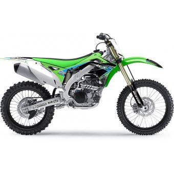 Kawasaki Kx 100 2014-2017 Kit Déco Flu Designs Pro Team Series 2 Pts2