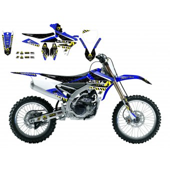Yamaha Yz 250 Replica 4tps Ufo Kit 2002-2014 Kit Déco Arma Energy + Housse De Selle