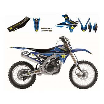 Yamaha Wr 250 F 2015-2017 Kit Déco Blackbird Rockstar Energy + Housse De Selle