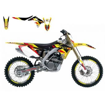 Suzuki Rmz 250 2010-2017 Kit Déco + Housse Blackbird Dream 3