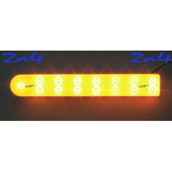 Barrette 30 LED  High Power  Eclairage Orange base blanc ( paire )