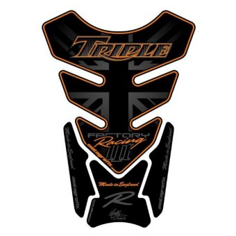 Triumph Universel - Protections de Réservoir 4 Parties Noir Orange