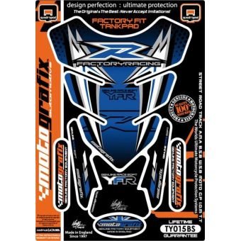 Yamaha Universel - Protections de Réservoir 4 Parties Bleu Noir Blanc