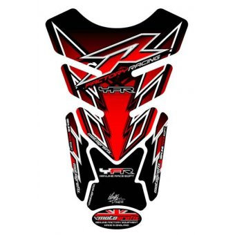 Yamaha Universel - Protections de Réservoir 4 Parties Rouge