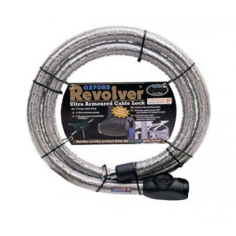 Antivol Oxford Cable Revolver Argent 1,4 m