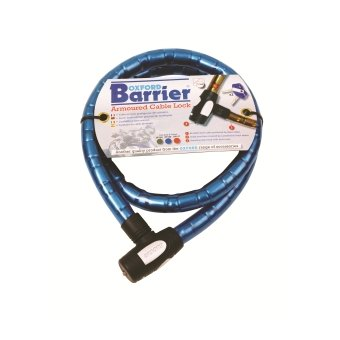 Antivol Oxford Cable Barrier maillons 10 mm Bleu 1,5 m X 25 mm