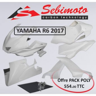 Yamaha Yzf R6 2017 Ensemble Pack Carénage. Carénage Sebimoto