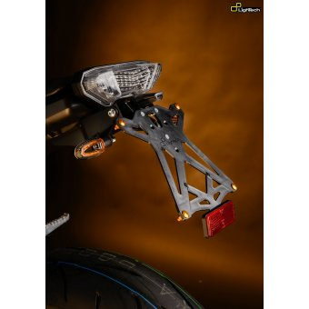 Yamaha Mt09 -2016 Support de Plaque Réglable Lightech Noir