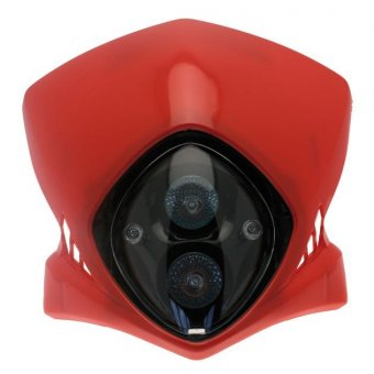 Plaque Phare Bihr Viper 12v 35w Rouge