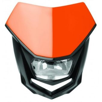Plaque Phare Polisport Halo Halogen H4/ 12v 35w Homologuée Orange Ktm