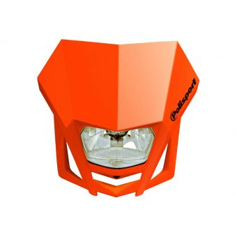Plaque Phare Polisport Imx Halogen H4/12v 35w Homologuée Orange Ktm