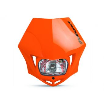 Plaque Phare Polisport Mmx Halogen H4/ 12v 3sw Homologuée Orange Ktm