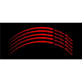 Wheel Stripes/Filets de jantes Aprilia Racing Rouge