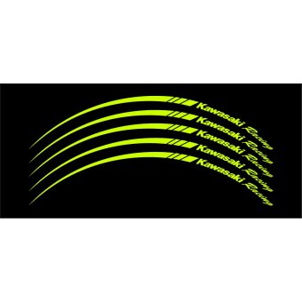 Wheel Stripes/Filets de jantes Kawasaki Racing Vert