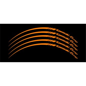 Wheel Stripes/Filets de jantes Kawasaki Racing Orange