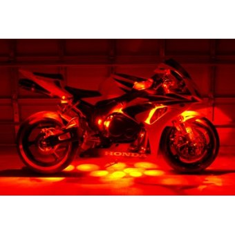 Kit Led Moto Telecommande  Stage 3 Eclairage Orange
