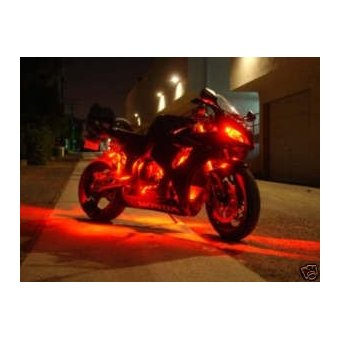 Kit Led Moto Telecommande  Stage 3 Eclairage Rouge