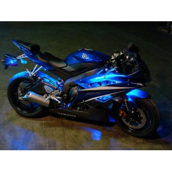 Kit Led Moto Telecommande  Stage 4 Eclairage Bleu