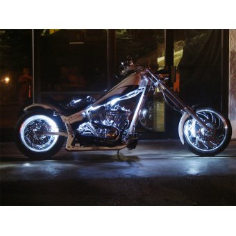 Kit Led Moto Telecommande  Stage 4 Eclairage Blanc
