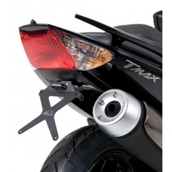 SUPPORT DE PLAQUE INCLINABLE YAMAHA TMAX 08/10