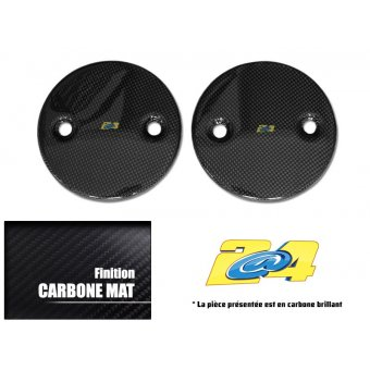 Cache Carter Rond Carbone Mat T-Max - 2012 / 2013 (Paire)