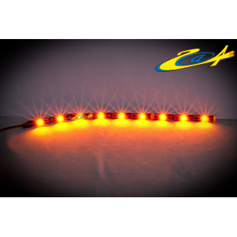 Barrette 12 LED High Power Eclairage Rouge base noire 40 cm