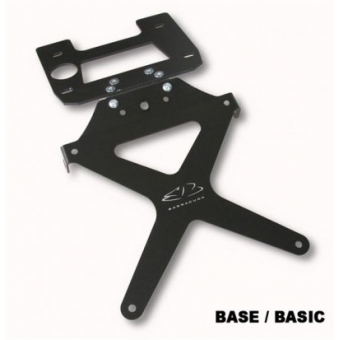 SUPPORT DE PLAQUE INCLINABLE KAWASAKI ER6 2005/2008