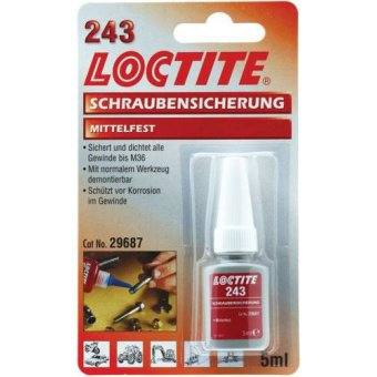 Loctite 243 Frein Filet Moyen Flacon 5ml