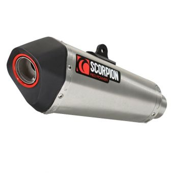 Silencieux Scorpion Red Power Serket Conique Inox brossé Suzuki Gsr 750 11-16