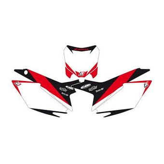Suzuki Rm 125 / 250 2001-2008 Fond de Plaque Blackbird Graphic Blanc / Rouge