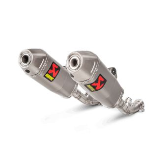 Honda Crf 450 R  2017-2018 Silencieux Slip-On Titane Akrapovic S-H4SO8-CIQTA