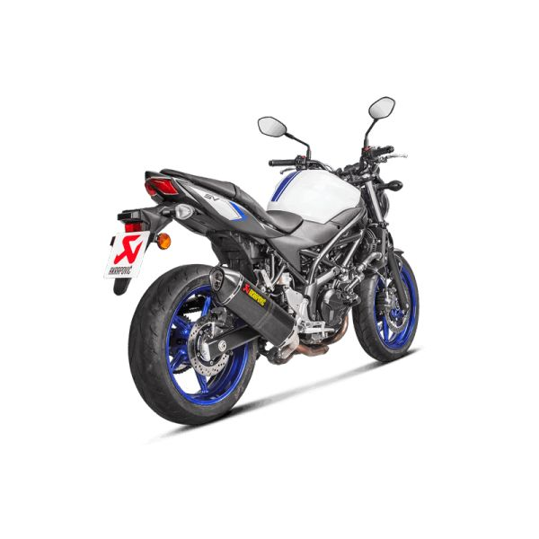 suzuki sv 650 x 2018 silencieux slip on carbone akrapovic s s6so9 hr. Black Bedroom Furniture Sets. Home Design Ideas